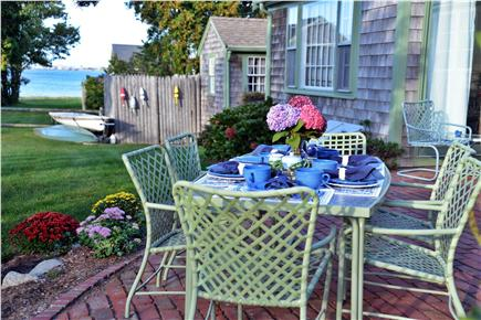 Barnstable Cape Cod vacation rental - Have breakfast on the private patio and enjoy the ocean view