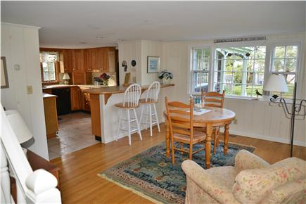 Barnstable Cape Cod vacation rental - Kitchen dining area has amazing view of the ocean!
