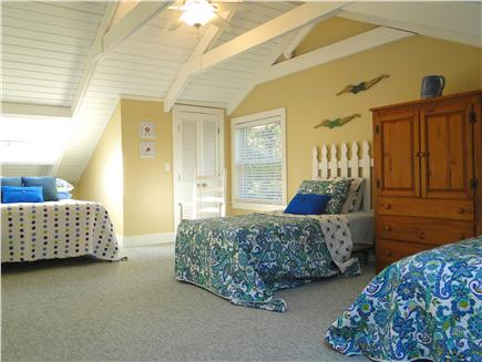 West Harwich Cape Cod vacation rental - Upstairs bedroom with Queen bed and 2 Twins