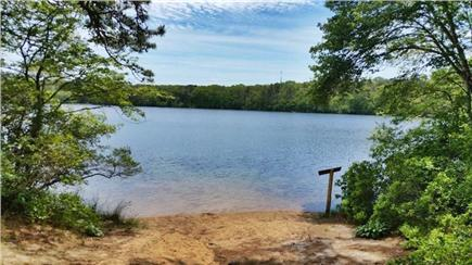 Dennis Cape Cod vacation rental - All Just Steps Away From  Flax Pond.