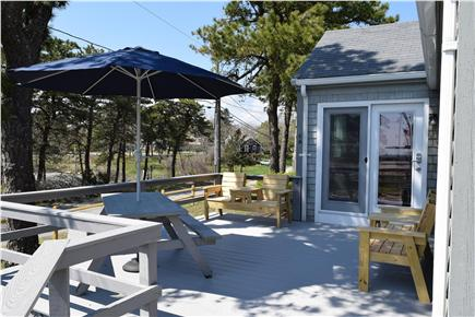 Barnstable, Coast of Hyannis Cape Cod vacation rental - Relax on the new deck, watch the sunset, listen to the waves.