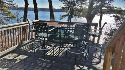 Pleasant Lake Harwich Cape Cod vacation rental - Happy Hour Deck overlooking private beach and Long Pond