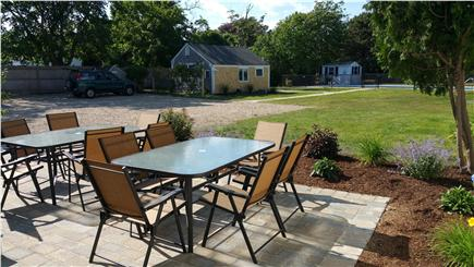Harwichport Cape Cod vacation rental - Patio for relaxing and cottage in the distance