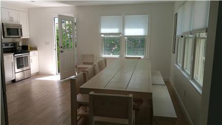 Harwichport Cape Cod vacation rental - Custom table seats 14+