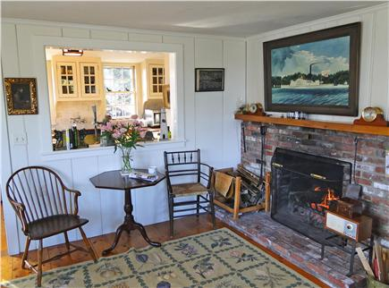 Chatham Cape Cod vacation rental - Lovely living area with fireplace