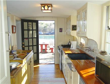 Chatham Cape Cod vacation rental - Modern kitchen appliances, opens to picnic area, water views