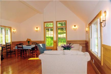 Truro Cape Cod vacation rental - East - West orientation fills the living Room with light all day