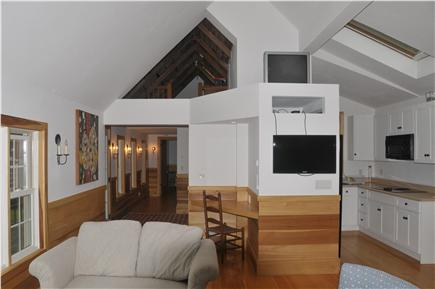 Truro Cape Cod vacation rental - The Cathedral ceilings and automated skylights keeps air flowing.