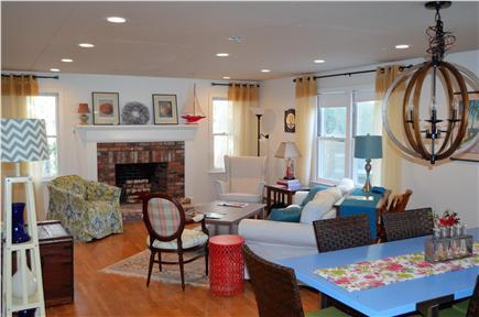 East Falmouth Cape Cod vacation rental - Living/Dining Area