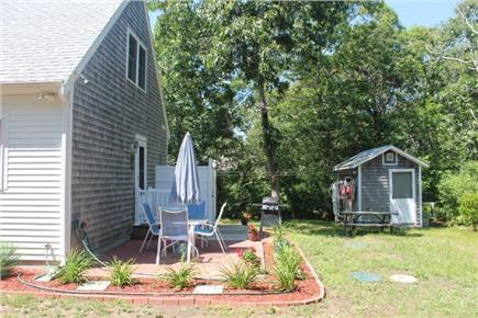 Eastham Cape Cod vacation rental - Back yard with patio and picnic table