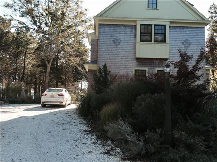 East Orleans Cape Cod vacation rental - Approaching Home From Back With Large Parking Area to Left