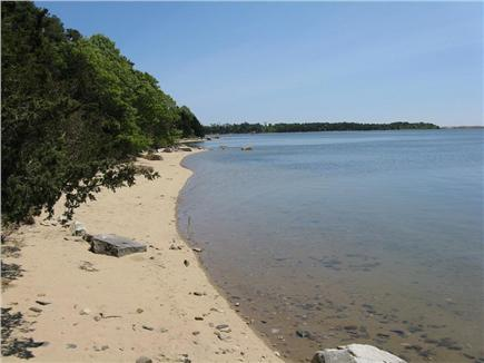 East Orleans Cape Cod vacation rental - View from our beach toward Pochet