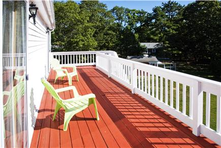 West Yarmouth Cape Cod vacation rental - Deck with access to two upstairs bedrooms