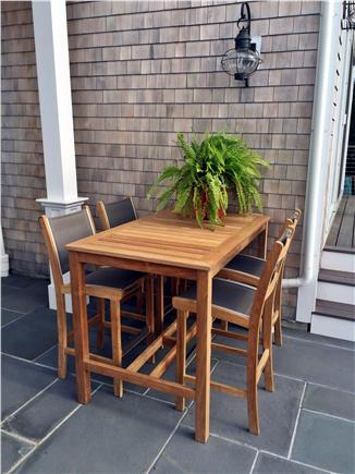 North Chatham Cape Cod vacation rental - Dinner on the patio