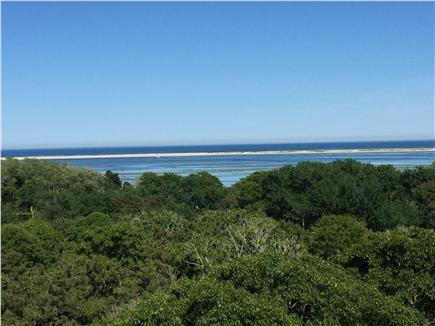 North Chatham Cape Cod vacation rental - 180 Degree View of N. Beach & the Atlantic From the Back Patio