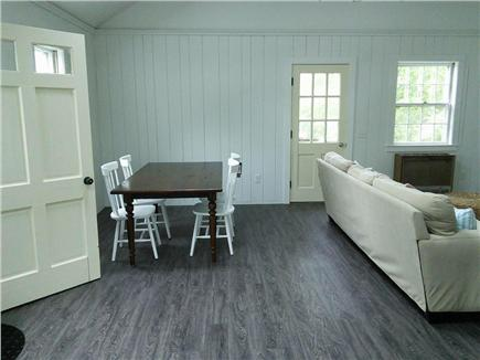 Dennis Port Cape Cod vacation rental - Family room has a dining area.