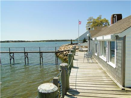 Pleasant Bay, South Orleans Cape Cod vacation rental - Deck runs the length of the house, swim off deck