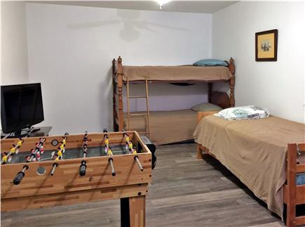 Chatham Cape Cod vacation rental - Bunkroom sleeps 4, with flat screen tv and foosball/pool table