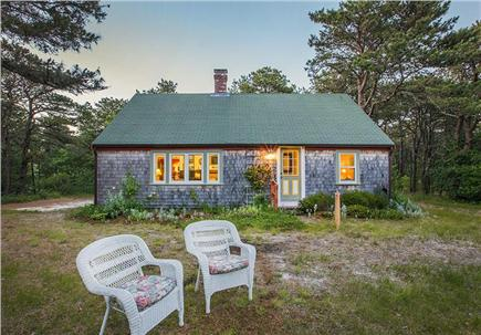 Wellfleet Cape Cod vacation rental - Front view of house, garden with herbs for the picking.