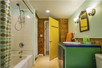 Wellfleet Cape Cod vacation rental - Bathroom with tub and shower.