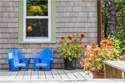 Wellfleet Cape Cod vacation rental - Deck, chairs for little ones.