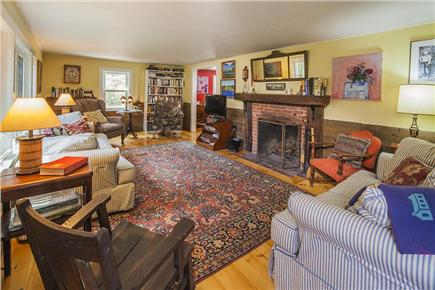 Wellfleet Cape Cod vacation rental - Spacious, comfortable living room, 2 couches and 2 easy chairs.