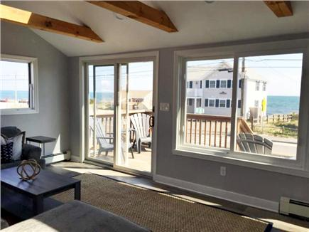 Dennis Port Cape Cod vacation rental - Living room w/ ocean views from all windows (has solar shades)
