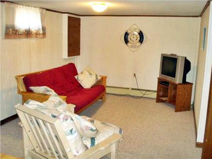 Eastham Cape Cod vacation rental - Downstairs room with TV & DVD player and table for games