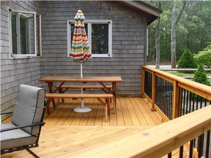 Eastham Cape Cod vacation rental - Picnic table on deck