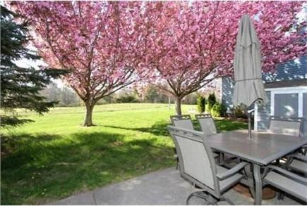 Brewster Cape Cod vacation rental - Patio overlooking golf green