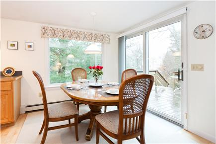 Orleans Cape Cod vacation rental - Dining area with slider to the deck