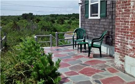 Sagamore Beach Sagamore Beach vacation rental - Flagstone patio, view of the meadow across the road