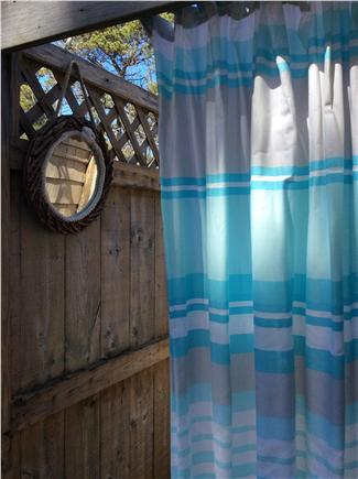 West Dennis Cape Cod vacation rental - Outdoor shower-hi shower head for adults and a low one for kids