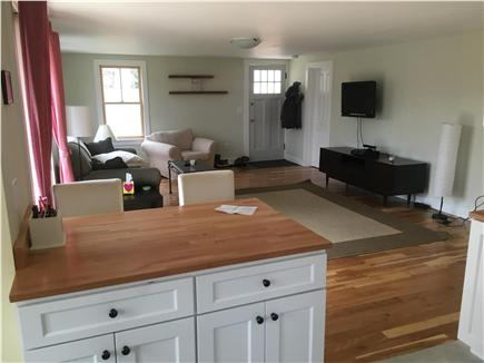 Harwich Cape Cod vacation rental - An open floor plan view from the kitchen to the living room