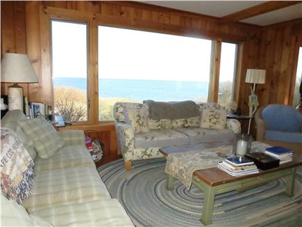 Brewster Cape Cod vacation rental - Living room with working fireplace