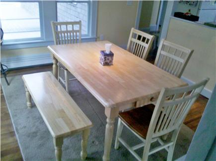 Chatham Cape Cod vacation rental - Kitchen area seating and full hardwood floors throughout