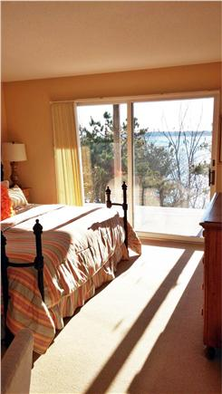 South Wellfleet Cape Cod vacation rental - Master bedroom with king bed and water view