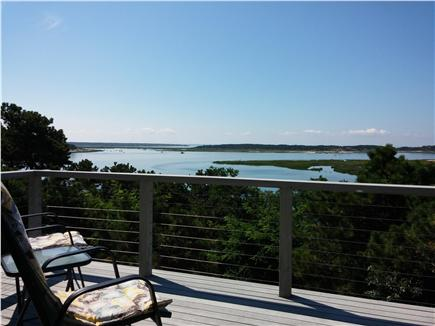 South Wellfleet Cape Cod vacation rental - Separate smaller deck on top level with water view