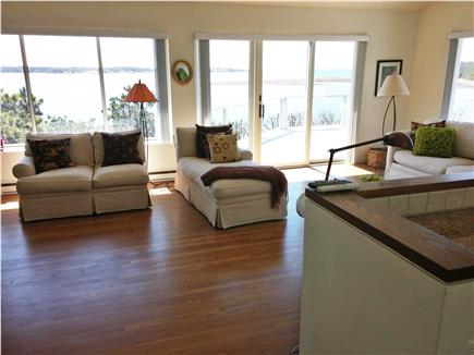 South Wellfleet Cape Cod vacation rental - Amazing water view from living room, kitchen and dining area
