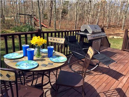 Sandwich Cape Cod vacation rental - Enjoy the deck and swing set