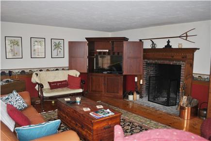 Sandwich Cape Cod vacation rental - Large fireplaced livingroom - relax, enjoy
