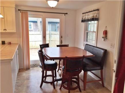 Yarmouth Cape Cod vacation rental - A cozy dining area with sliders to new patio and back yard