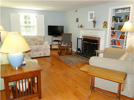 Brewster Cape Cod vacation rental - Living room as seen from the front door.