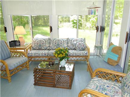 Brewster Cape Cod vacation rental - Large sun porch with comfy seating.  A great place to gather.