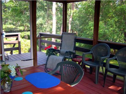 South Dennis Cape Cod vacation rental - Enjoy your coffee and cocktails on the screened porch.