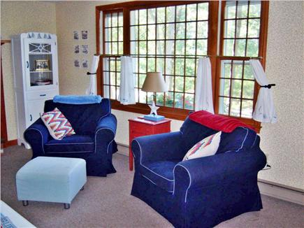 South Dennis Cape Cod vacation rental - Light and bright living room.