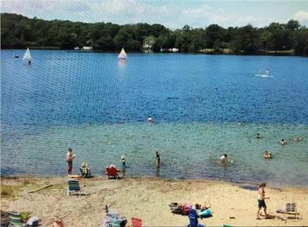 Dennis Cape Cod vacation rental - Princess Beach at Scargo Lake (freshwater) under 1/2 mile away