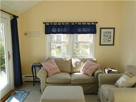 Dennis Cape Cod vacation rental - Sitting room with flat screen TV, slider to deck