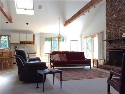 N. Truro Cape Cod vacation rental - Vaulted ceilings in the great room