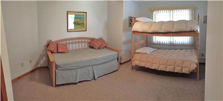N. Truro Cape Cod vacation rental - Kids' downstairs bedroom with trundle sleeps 4